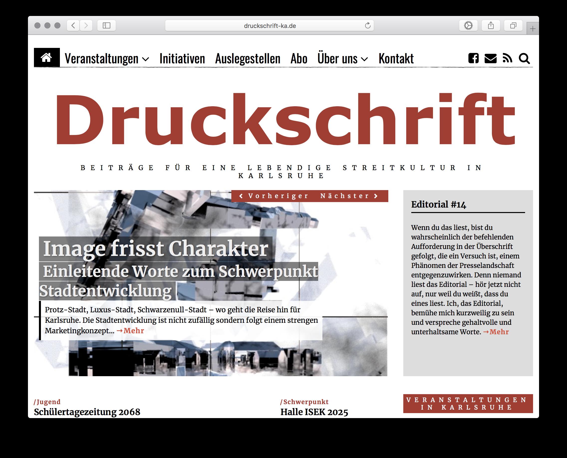 Druckschrift Karlsruhe